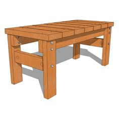 Nice, detailed plans for outdoor bench.