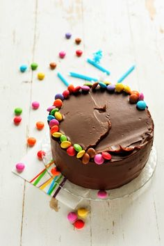 7 chances sur 365 que ce soit un jour d'anniversaire… Celebration cake totalement chocolat et Smartie's !!!