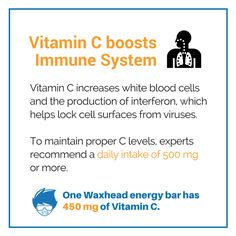 Vitamin C boosts Immune System >  Vitamin C powers immunity more than any other nutrient increasing white blood cells and the production of interferon which helps lock cell surfaces from viruses.  White blood cells are the workhorse of your immune system attacking infected cells by surrounding killing and then cleaning them up. One study found even moderate to low drops in Vitamin C levels can produce significant drops in immune function. To maintain proper C levels nutritional experts…