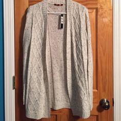 Sweater Cardigan White/Grayish sweater Cardigan. New with tags. Sweaters Cardigans