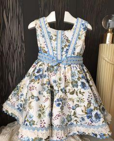 blue floral girl easter dress toddler spring summer by pitufos