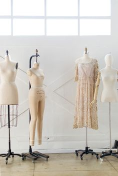 Adored Vintage in Long Beach, CA | Vintage dress forms in the studio
