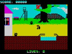 Wanted: Monty Mole (1985) - You are a mole. Who need coal. So off you go with your bucket down a south Yorkshire pit to rob the coal for your own selfish means. I great platform game, with annoying totally random crushers that just decide to kill you from time to time. Upon death, you were treated to your ghost floating to the top of the screen, annoying if you got killed right at the bottom. Bah