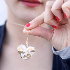 Super easy clay necklace pendant tutorial using air dry clay!