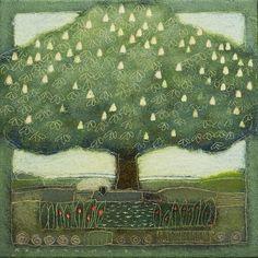 2012-014 -  The Dreaming Tree -30x30 cm -  Landscape by Rob van Hoek