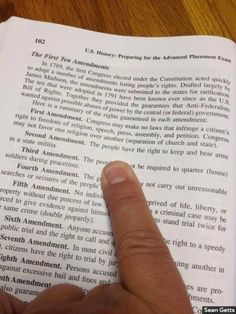 "High School Textbook Rewrites Second Amendment–Literally The actual Second Amendment reads, ""A well regulated Militia, being necessary to the security of a free State, the right of the people to keep and bear Arms, shall not be infringed."""