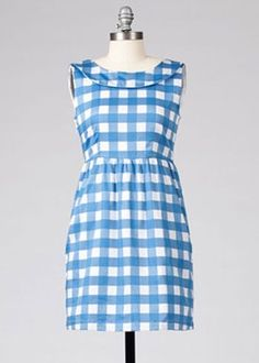 retro gingham picnic dress #1960s #vintage