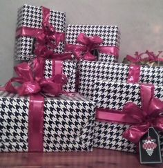 Love Wrapping gifts!! Gotta get some Hounds tooth gift wrap