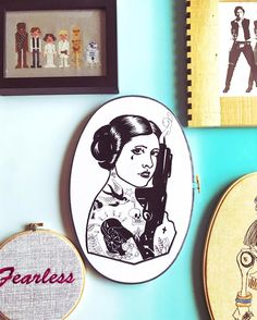 Because I'm back to obsessing over this piece.  Leia might be involved in a giveaway this weekend! (Might = def will ) -- Clothandtwigshop.com #clothandtwigPOP #starwarslove #princessleia