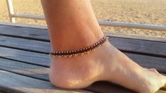 jewelry black ankle cord charm bracelet minimalist for dainty com dp silver her om anklets amazon with anklet gift
