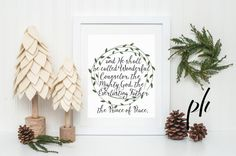 Isaiah 9:6 Wonderful Counselor Mighty by printablehomeschool
