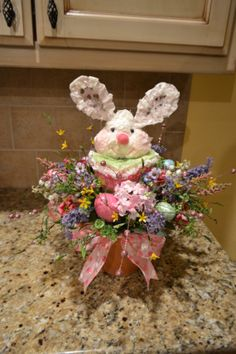 Cupcake Bunny Arrangement by kristenscreations on Etsy