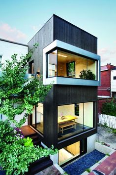 Berri Residence by NatureHumaine via - Architecture and Home Decor - Bedroom - Bathroom - Kitchen And Living Room Interior Design Decorating Ideas - Architecture Résidentielle, Amazing Architecture, Contemporary Architecture, Installation Architecture, Modern Contemporary, Casas Containers, Exterior Design, Modern Exterior, Building A House