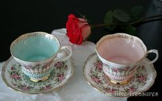 Royal Albert - Green Park Series - Turquoise and Pink