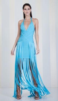 VESTIDO BANDAGE AZUL DETALHE FRANJA FRANJAS - VE20252-51 | Skazi e Skclub, Moda feminina, roupa casual, vestidos, saias, mulher moderna