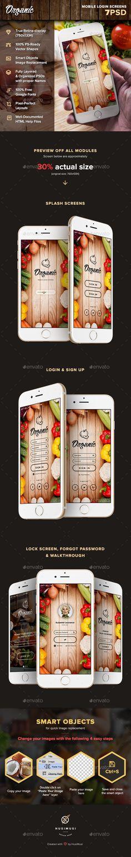 Organic - Mobile Login Screens - User Interfaces Web Elements