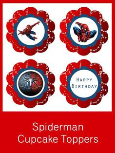 Spiderman Cupcake Toppers - FREE PDF Download