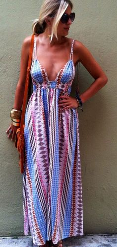 Summer Printed Maxi Dress