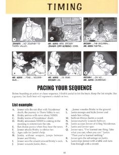 Art of Storyboarding NIMH (I think this could apply to comics too)
