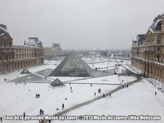 Louvre in the Snow.