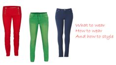 How to wear the colourful pants