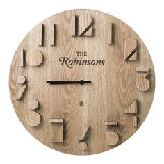 christmas gift guide 2016 10 of the best personalised gifts - Wood Design Diy Clock, Clock Decor, Personalised Gifts Wood, Unusual Gifts For Men, Cool Clocks, Wall Clock Design, Christmas Gift Guide, Christmas Gifts, Christmas Design