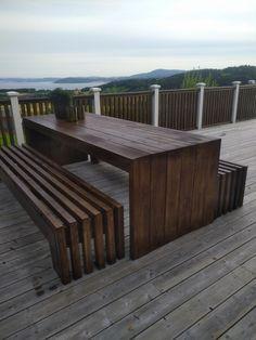 Wooden Garden Furniture, Diy Outdoor Furniture, Outdoor Decor, Outdoor Life, Outdoor Spaces, Outdoor Living, Wooden Patios, Bedroom Decor For Teen Girls, House Landscape