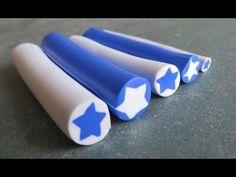 Tuto fimo : une cane étoile super facile (polymer clay tutorial : an easy star cane) - YouTube