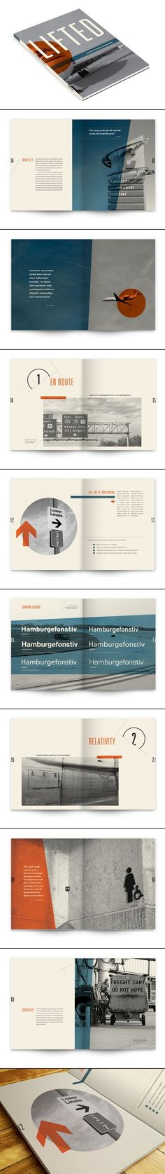 "Lifted: A Look at Airport Typography by Sally Carmichael - love the page number placement and the ""off-the-grid"" layout Web Design, Layout Design, Design Typo, Poster Design, Graphic Design Layouts, Print Layout, Tool Design, Print Design, Typography Design Layout"