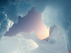 ice cave snow everywhere in polar circle (to get full size image visit the site)