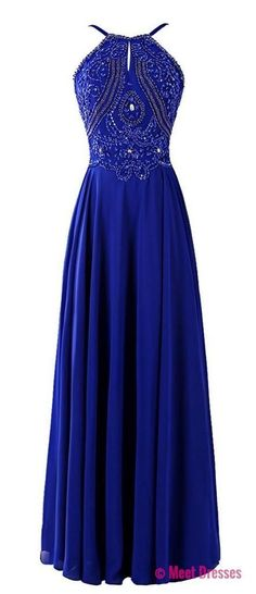 Royal Blue Prom Dresses,Charming Evening Dress,Prom Gowns,Prom Dresses,New Prom Gowns,Chiffon Evening Gown,Party Dresses PD20181627