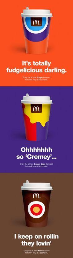 McDonalds Chocolate Drinks New Design