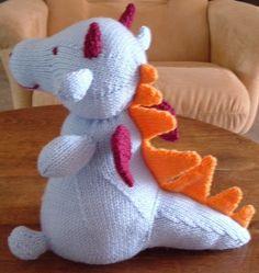 Modèle de dragon en tricot © 2008 by Teetra