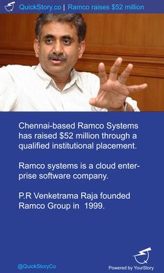 In May, 2015 @RamcoSystems has raised $52M from a qualified institutional placement.