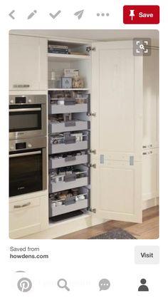 24 Super Fresh & Clever Kitchen Storage Ideas in 2018 Kitchen Storage Ideas for… – Kitchen Pantry Cabinets Designs Clever Kitchen Storage, Diy Storage, Pantry Storage, Towel Storage, Storage Racks, Storage Cabinets, Ikea Pantry, Diy Cabinets, Closet Storage