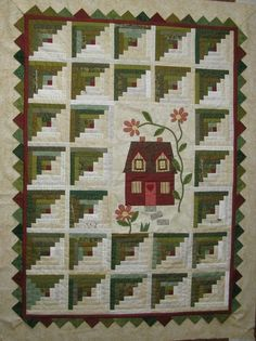 Love this Log Cabin quilt!