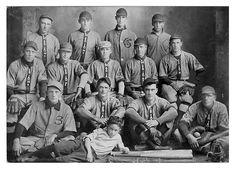 K. Miller, Second Base; H. Mitchell, Left Field; E. McIntosh, Manager; O. Mitchell, Catcher; G. Quillman, Pitcher; R. Roberts, Pitcher; L. Gibbs, Short Stop; R. Wilson, Left Field; D. Mitchell, Right Field; C. Henson, Center Field; B. Lampley, First Base; M. Kelley, Third Base; T. Turner, Catcher; J. Hay, Mascot