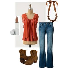 Pumpkin, created by mrsls.polyvore.com  Not sure about the boots, but love everything else