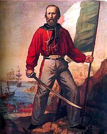 """A Garibaldi shirt (also called """"Garibaldi jacket"""" or """"Camicia rossa"""") was a woman's fashion, a red wool shirt named after the Italian patriot Giuseppe Garibaldi first popularized in 1860"""