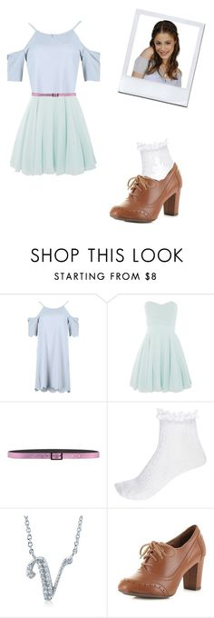 """violetta 1"" by maria-look on Polyvore featuring Boohoo, TFNC, Mauro Grifoni, River Island, BERRICLE and Hush"