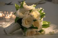 Bridal Bouquet of Patience Roses and Lily of the Valley