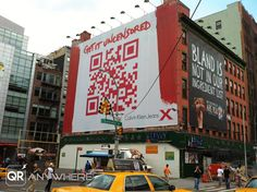 QR Codes Anywhere: Calvin Klein Jeans QR Code Billboard in New York City (Pics and Video)