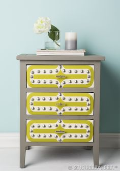 Trade an ultra-traditional look for upbeat-chic decor with upholstery nails and tacks!
