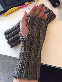 Ravelry: Crochet Ribbed Fingerless Mitts pattern by Katelyn De Freitas