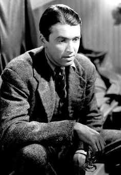 """Stewart as George Bailey in """"It's a Wonderful Life"""" (1939) He is so brilliant!"""