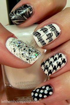 I love nail polish. / lovelovelovelove the music notes  on imgfave