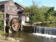 Old Mill in Gatlinburg, Tennessee (Now it is a restaurant).Love this place, I hope to be able to eat there one day...There is always an hour long wait:(