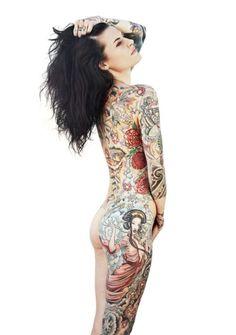 Inked magazine My girl Julie Becker Tattoo Girls, Girl Rib Tattoos, Asian Tattoos, Hot Tattoos, Great Tattoos, Beautiful Tattoos, Body Art Tattoos, Tattoos For Women, Tatoos