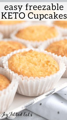 The BEST Keto Cupcakes. These Sour Cream Vanilla Cupcakes are perfect. They are very flavorful & moist and are only 2 net carbs per cupcake! Gluten free, grain free, sugar-free, low carb, and a THM S. Low Carb Sweets, Low Carb Desserts, Low Carb Recipes, Ketogenic Recipes, Healthy Sweets, Diabetic Recipes, Baking Recipes, Free Recipes, Healthy Food