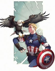 Someone send this to Marvel. I need a scene of Chis with an eagle I NEED IT